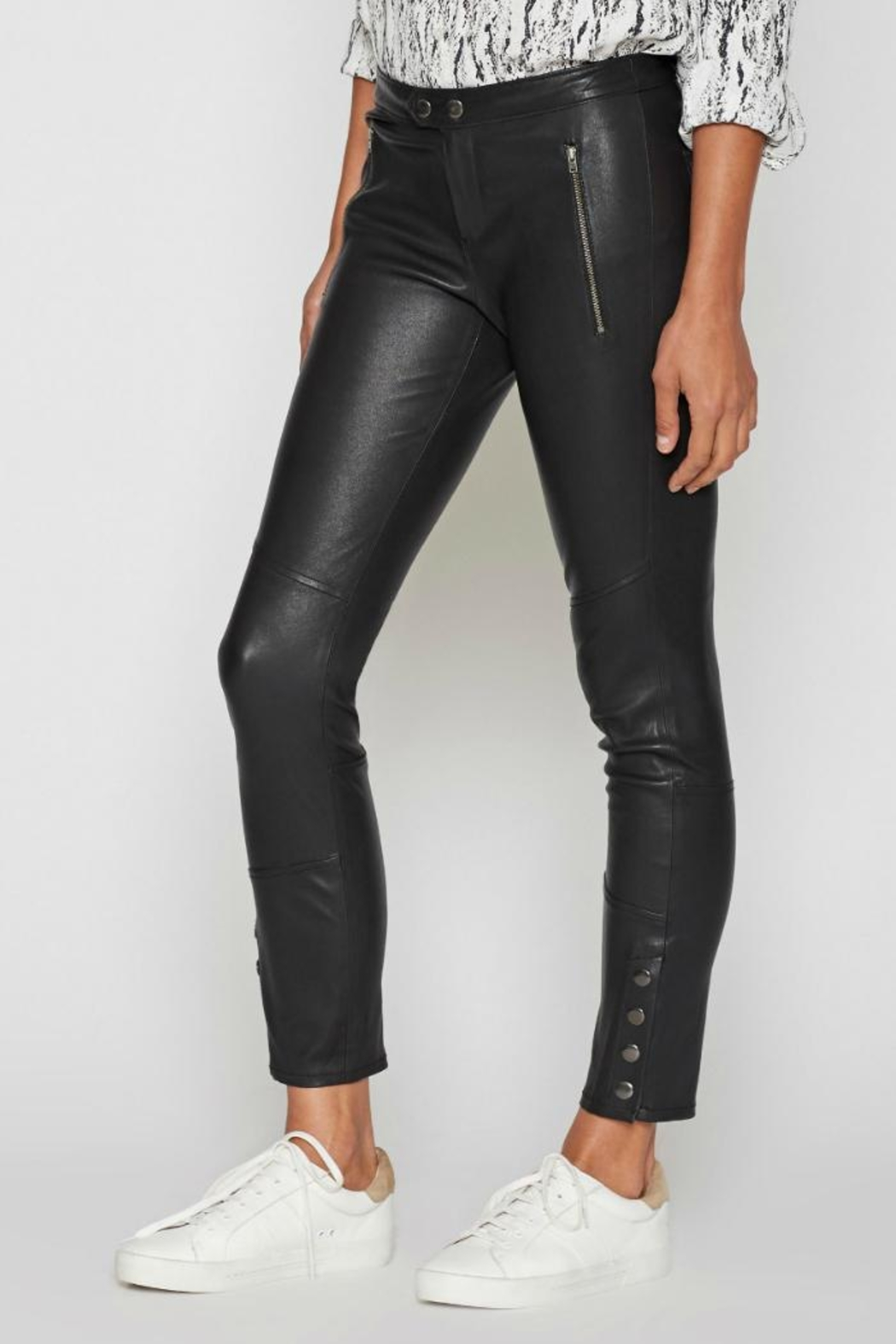 Joie Darnella Leather Pants - Front Full Image