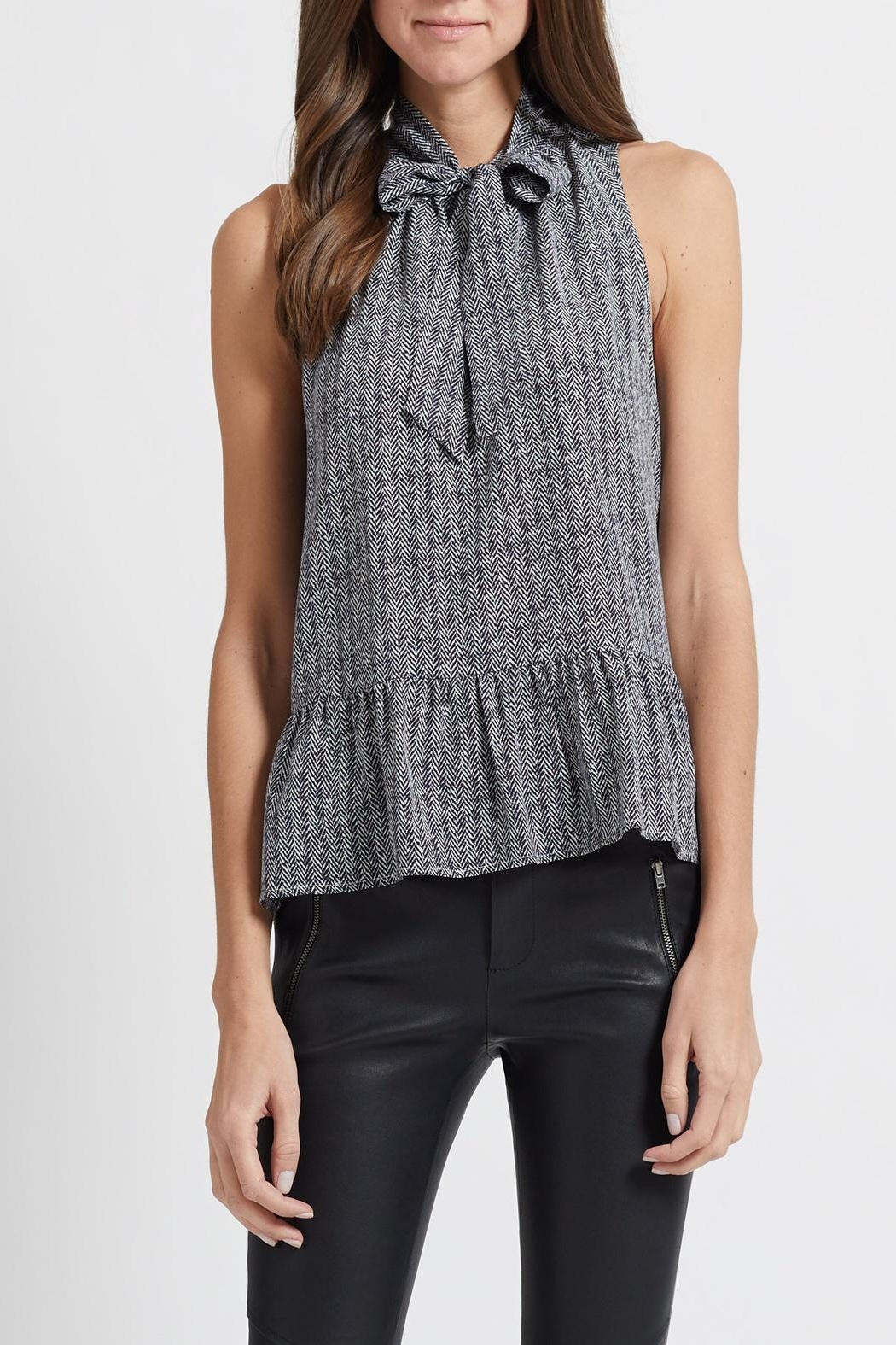 Joie Estero Tweed Blouse - Front Cropped Image