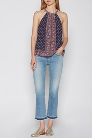 Joie Moroccan Print Bradie Top - Front full body