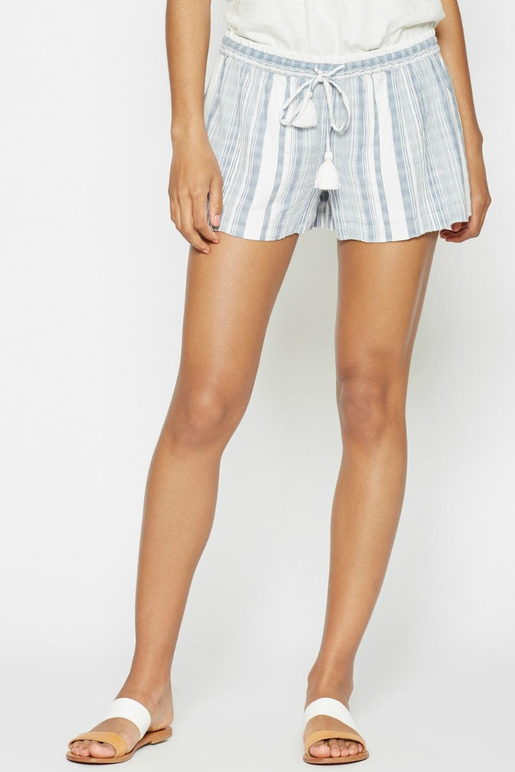 Joie Striped Comfy Shorts - Front Cropped Image