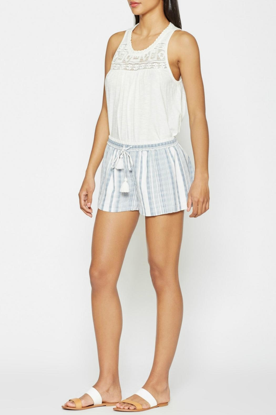 Joie Striped Comfy Shorts - Main Image