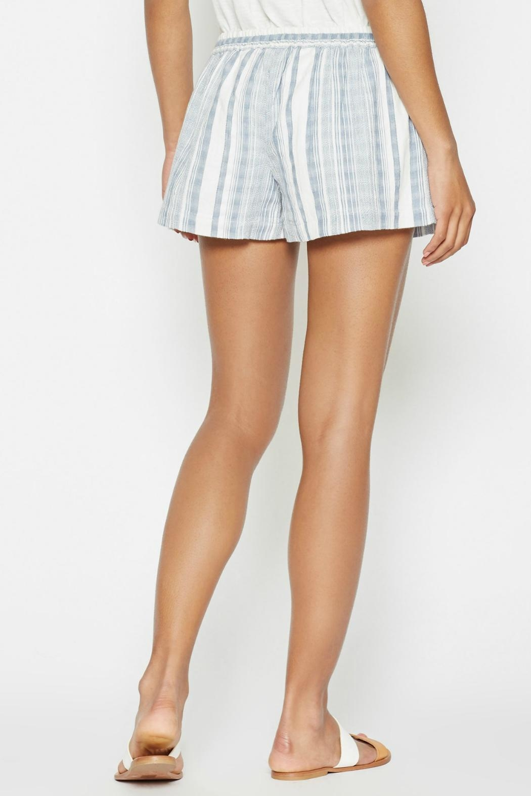 Joie Striped Comfy Shorts - Front Full Image