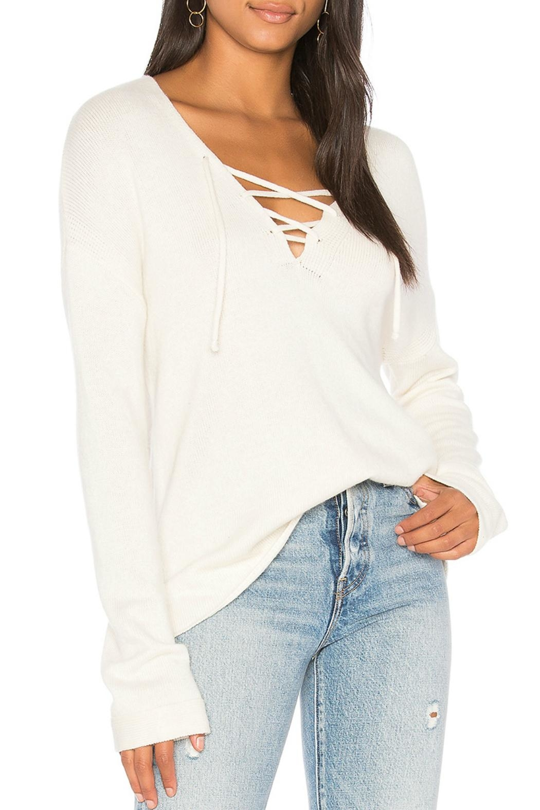 Joie Larken Tie-Up Sweater - Front Cropped Image