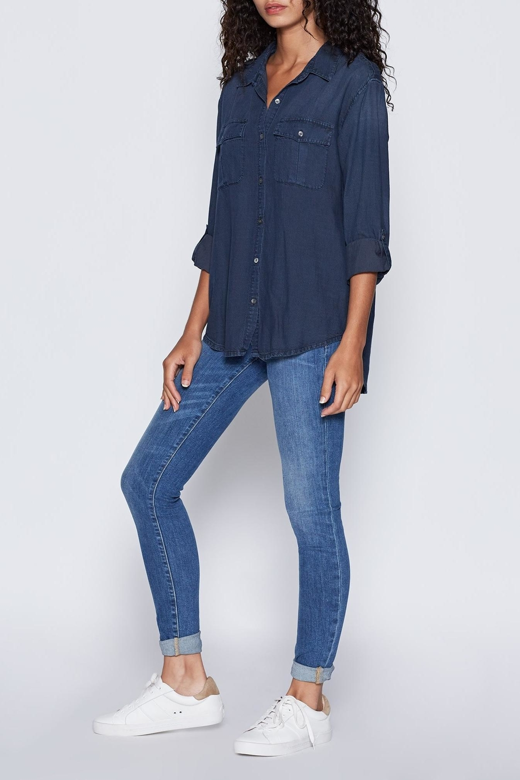 Joie Lidelle Chambray Top - Front Full Image
