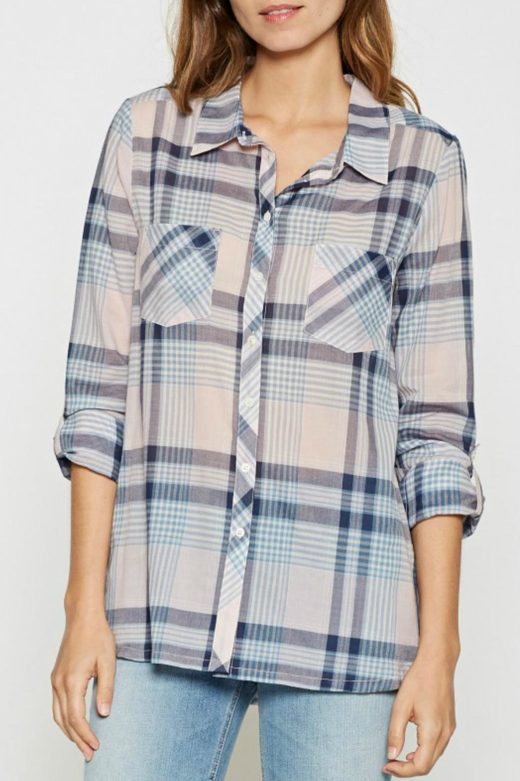 Joie Lilya Plaid Top - Front Cropped Image