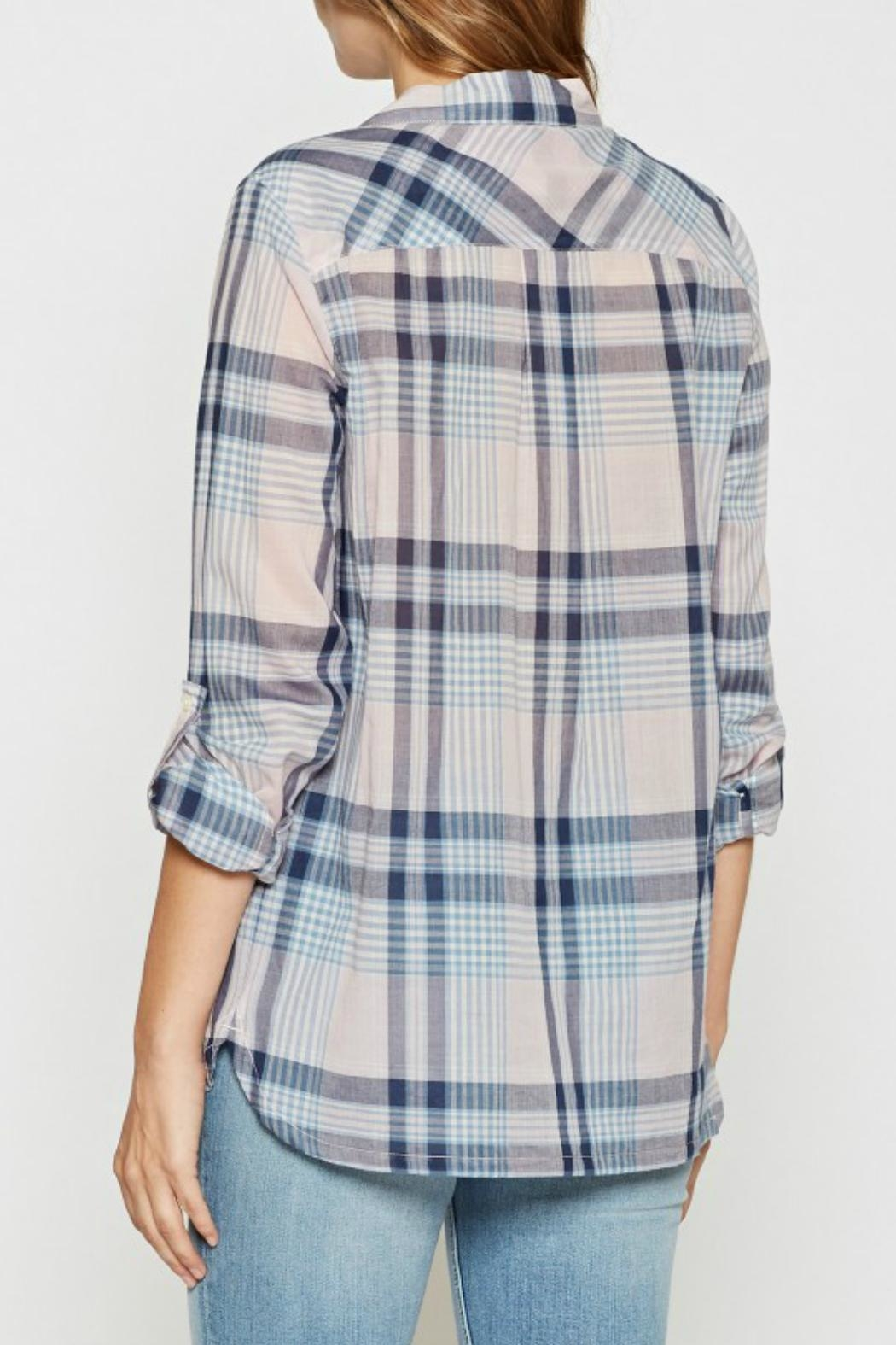 Joie Lilya Plaid Top - Front Full Image