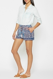 Joie Patterned Silk Shorts - Product Mini Image