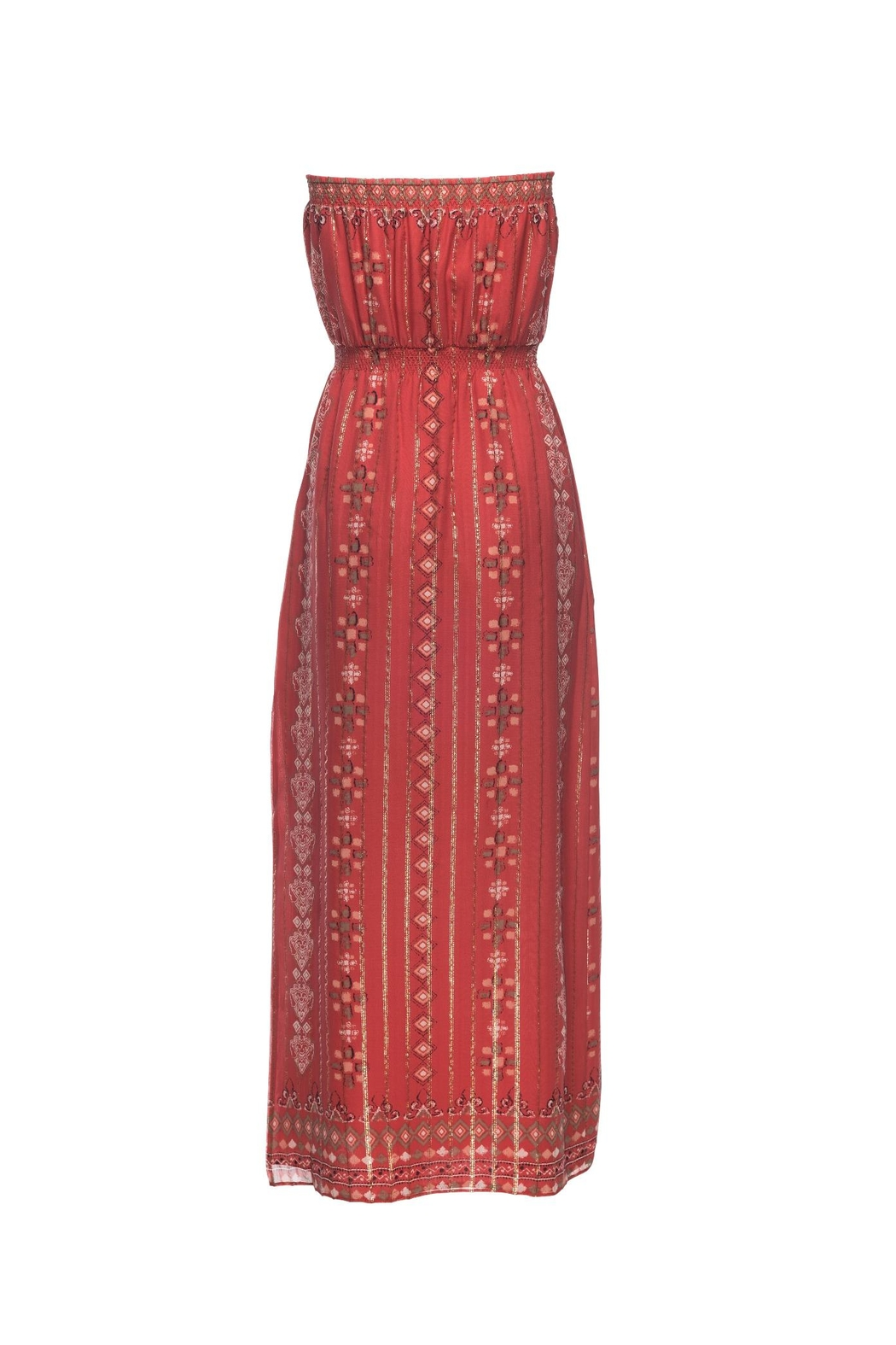 Joie Mariele Terracotta Dress - Front Full Image