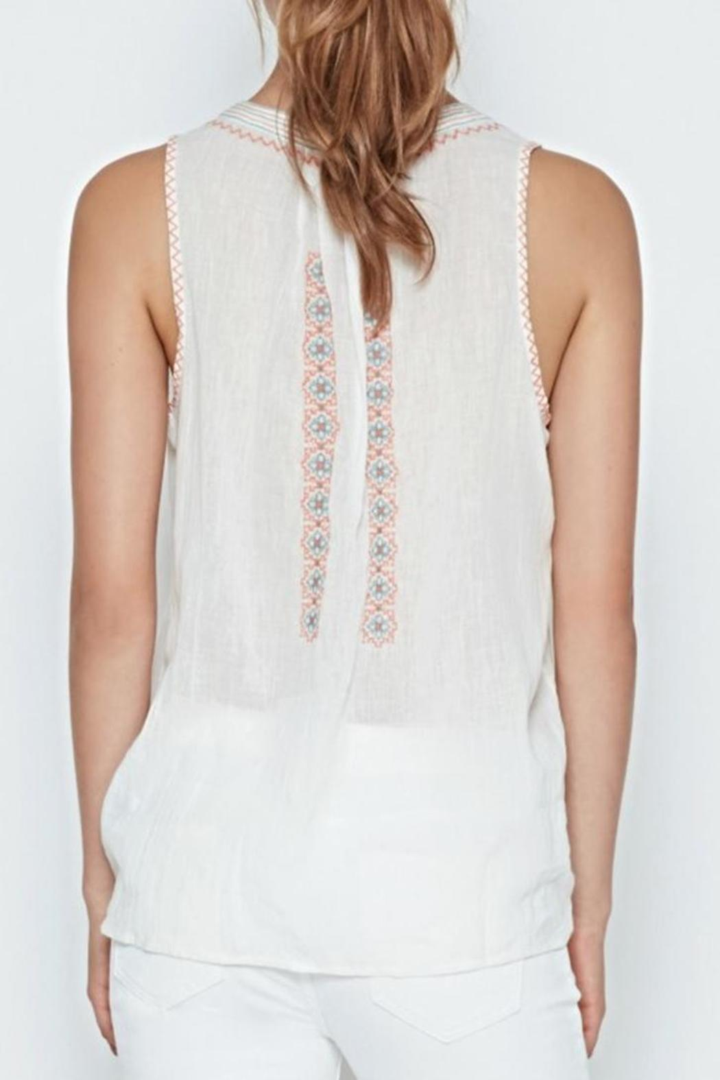 Joie Marl Embroidered Top - Side Cropped Image