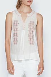Joie Marl Embroidered Top - Front cropped