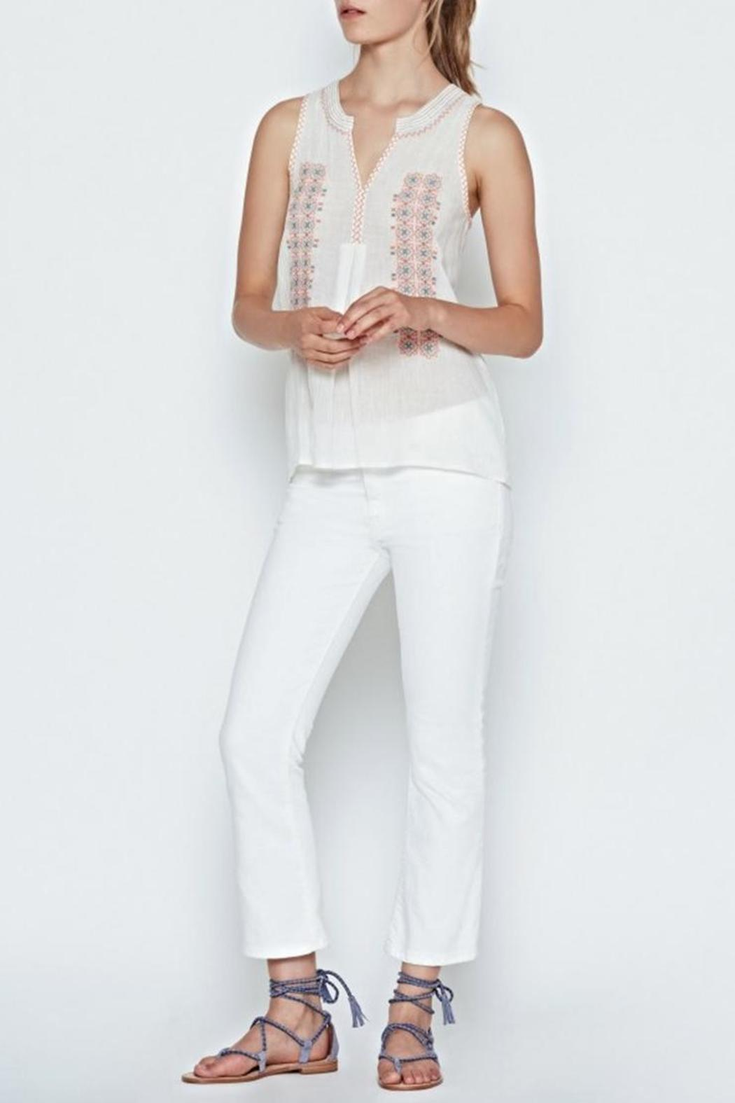 Joie Marl Embroidered Top - Front Full Image