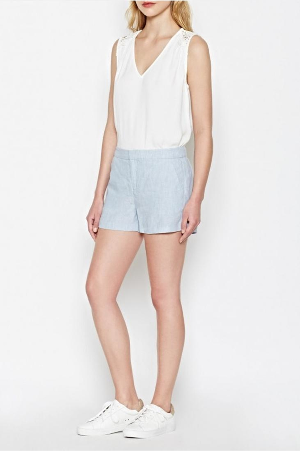 Joie Merci Linen Shorts - Front Cropped Image