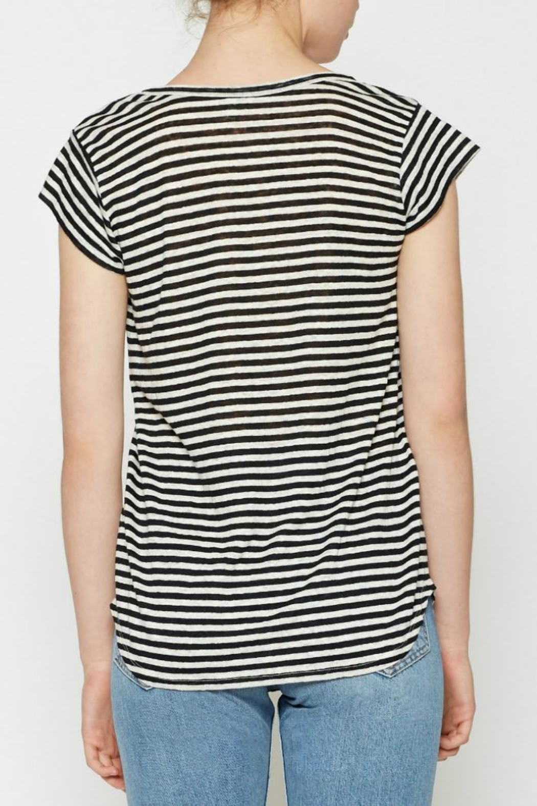 Joie Neyo Linen T-Shirt - Side Cropped Image