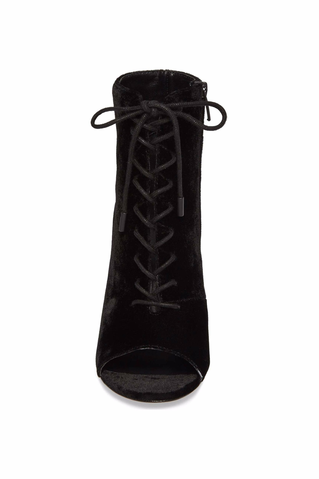 Joie Velvet Lace Up Bootie - Back Cropped Image