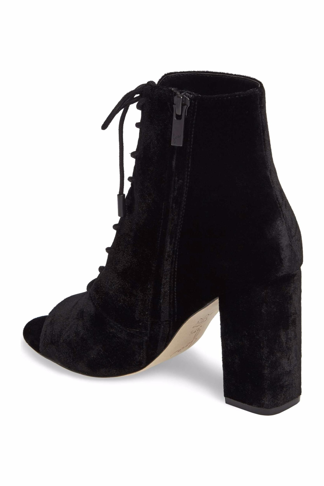Joie Velvet Lace Up Bootie - Side Cropped Image
