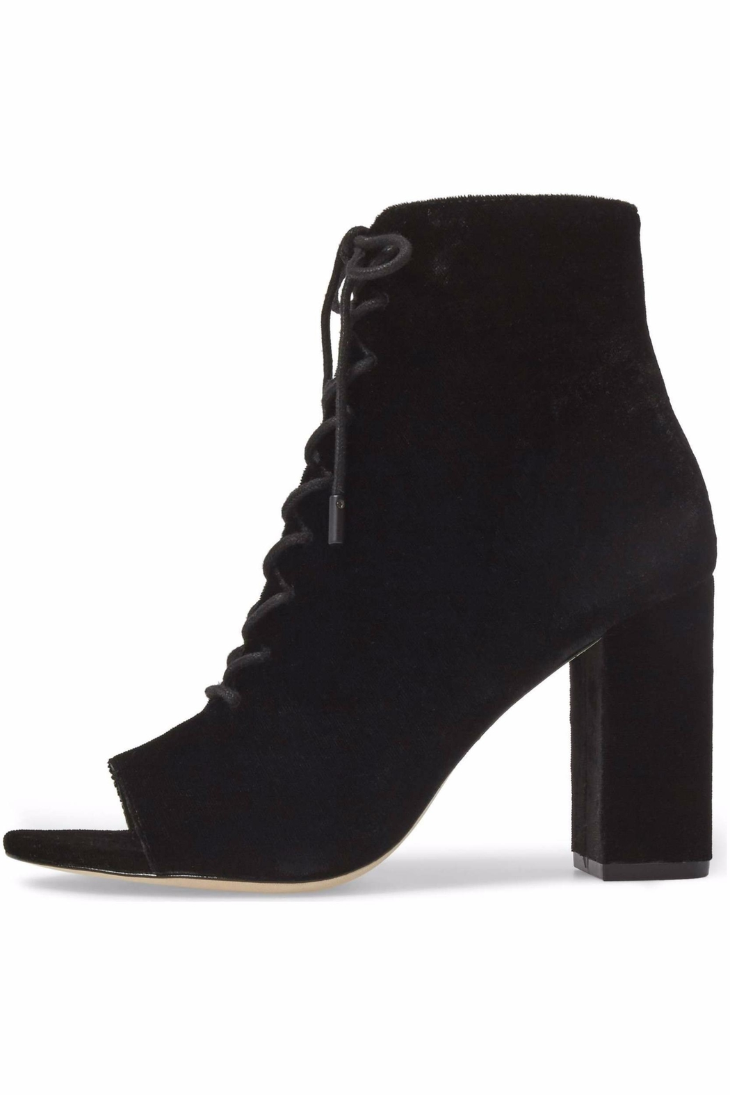 Joie Velvet Lace Up Bootie - Front Cropped Image
