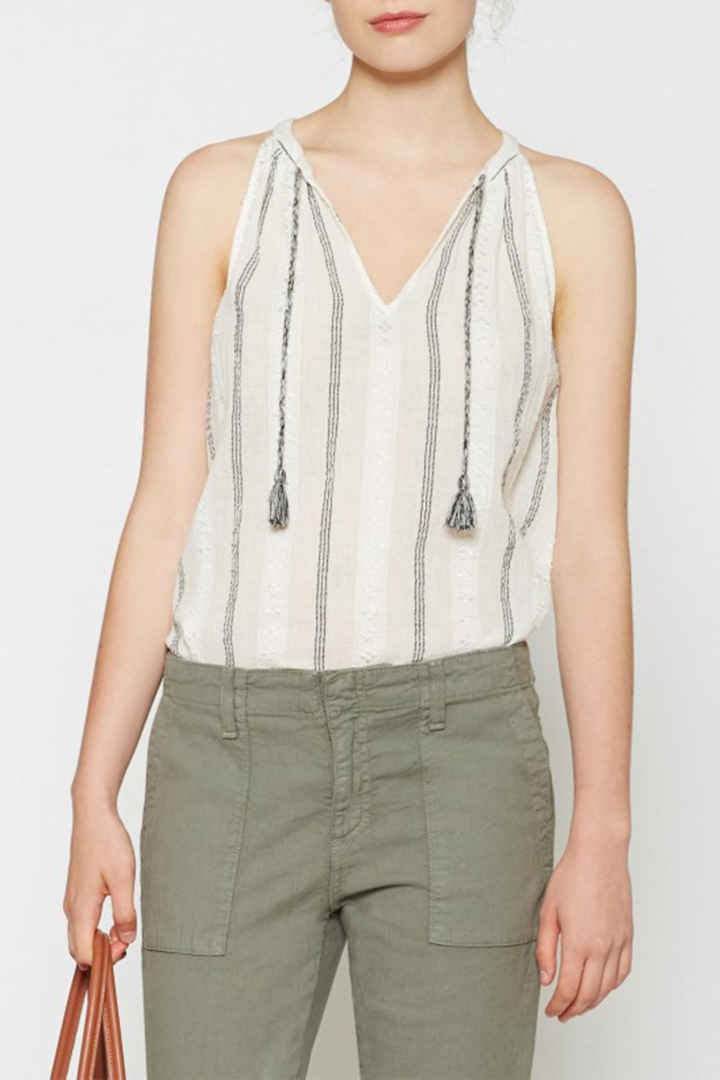 Joie Soft Amalle Tassel Tank - Front Cropped Image