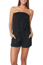 Joie Soft Black Off Shoulder Romper - Product Mini Image