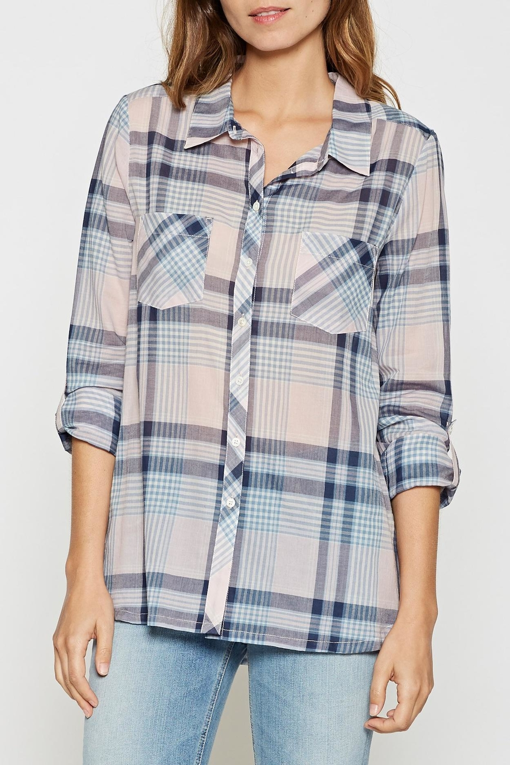 Joie Soft Lilya Plaid Top - Main Image