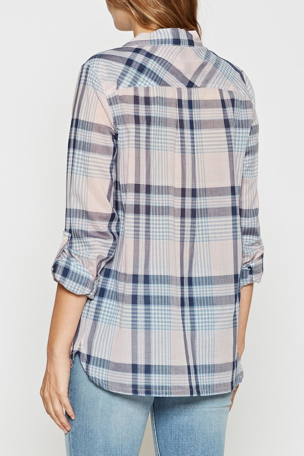 Joie Soft Lilya Plaid Top - Side Cropped Image