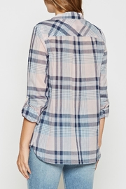 Joie Soft Lilya Plaid Top - Side cropped