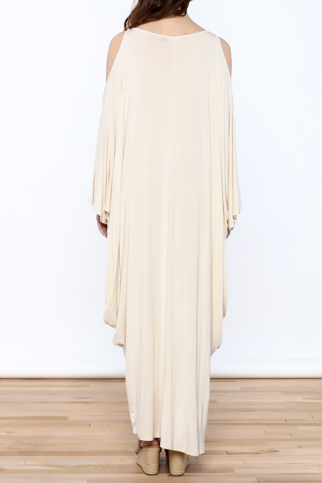 Join Clothes Cream Goddess Maxi Dress - Back Cropped Image