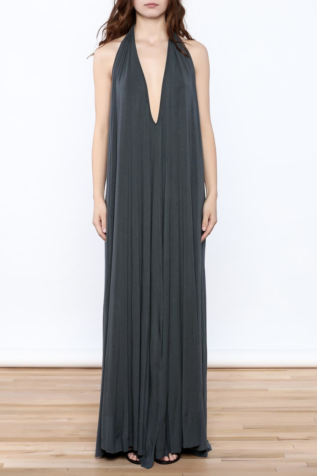 Join Clothes Grey Maxi Dress - Front Full Image