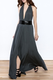 Join Clothes Grey Maxi Dress - Front cropped