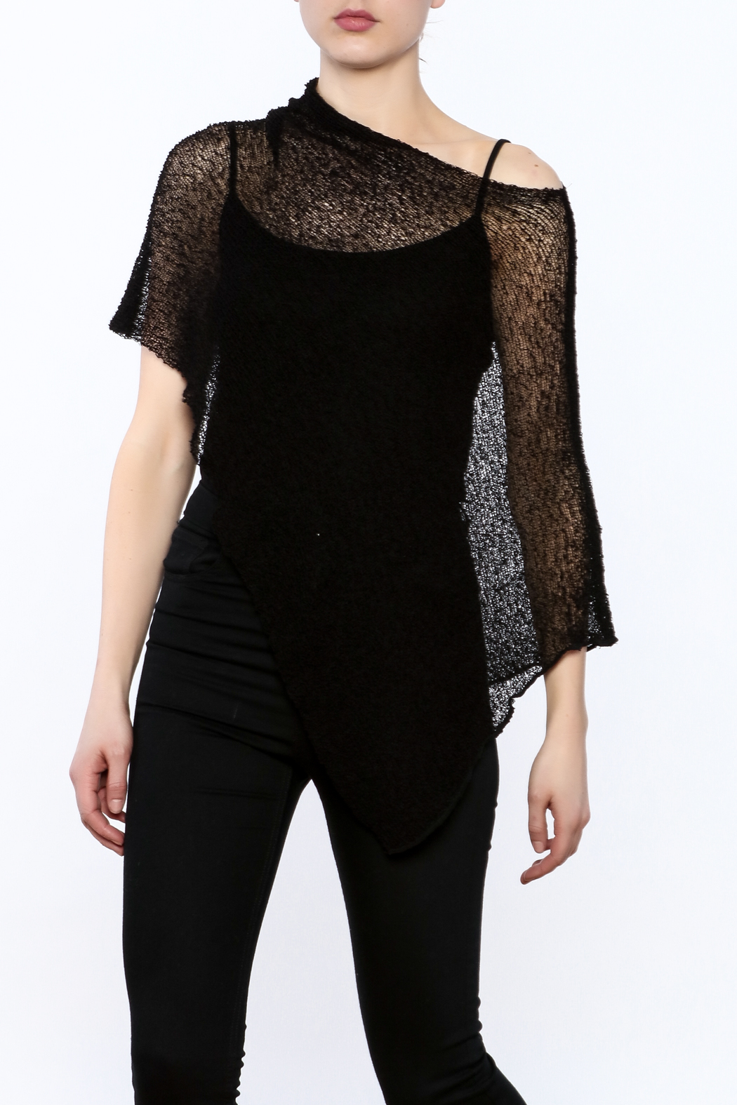 Join Clothes Sheer Mesh Poncho - Front Cropped Image