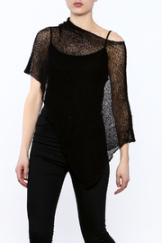 Join Clothes Sheer Mesh Poncho - Front cropped