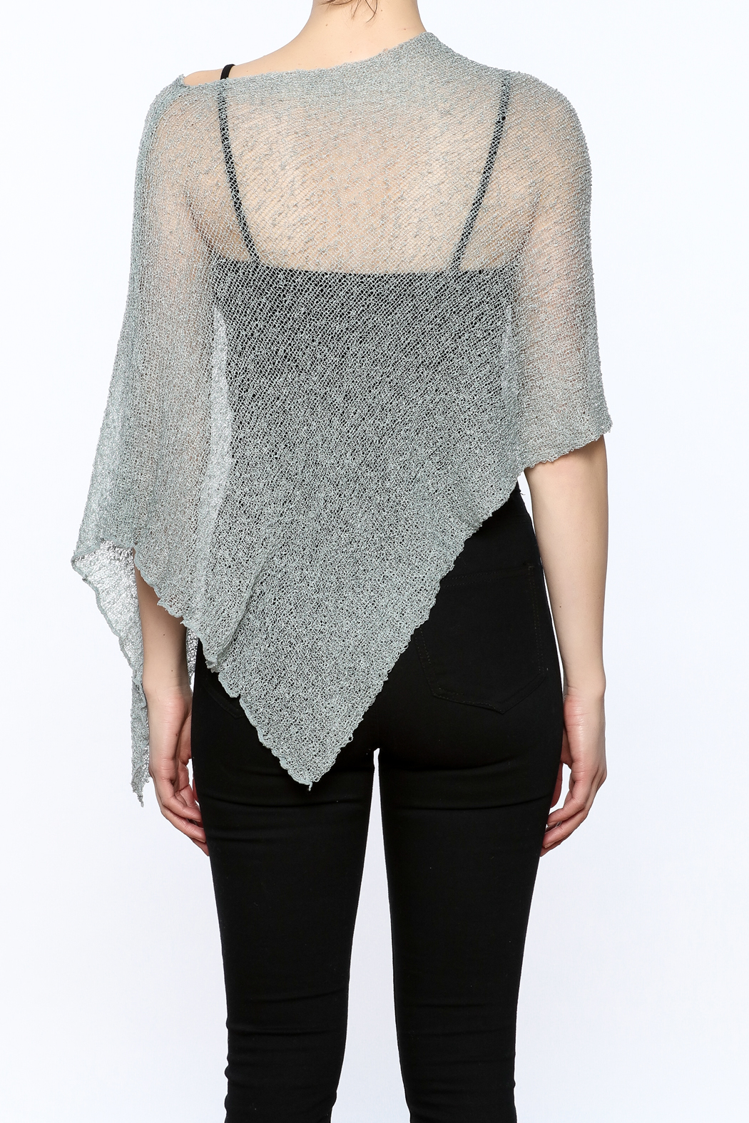 Join Clothes Sheer Mesh Poncho - Back Cropped Image
