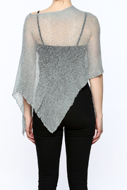 Join Clothes Sheer Mesh Poncho - Back cropped