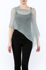 Join Clothes Sheer Mesh Poncho - Product Mini Image