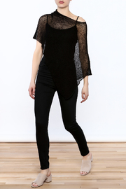 Join Clothes Sheer Mesh Poncho - Front full body