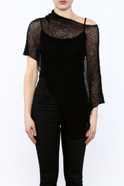 Join Clothes Sheer Mesh Poncho - Side cropped