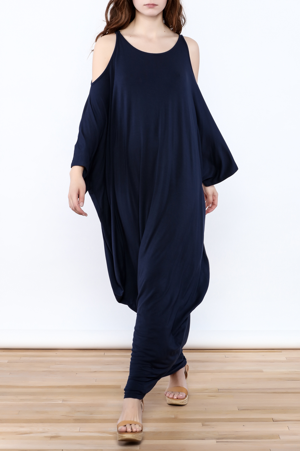 Join Clothes Navy Goddess Maxi Dress - Main Image