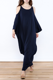 Join Clothes Navy Goddess Maxi Dress - Front full body