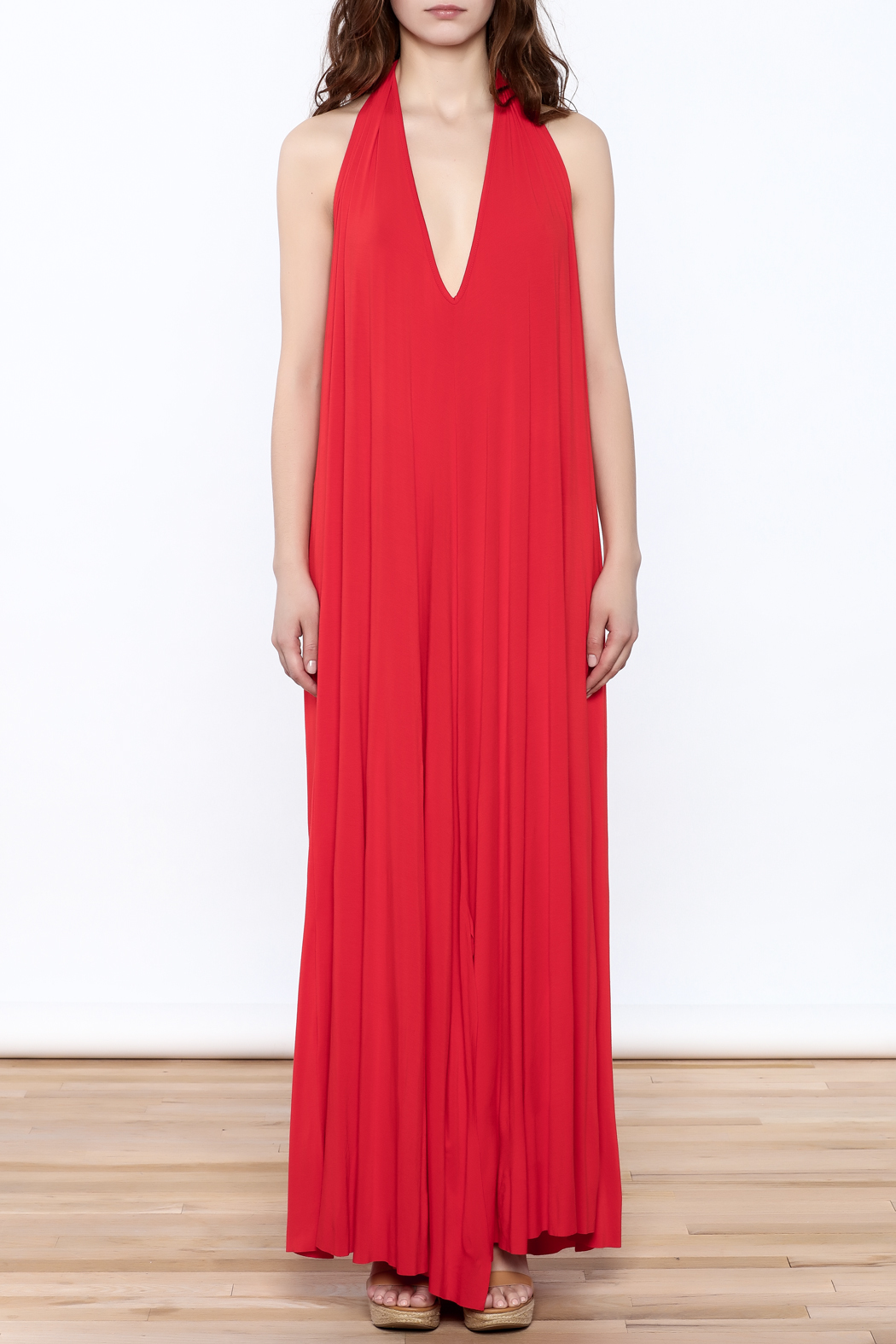 Join Clothes Red Maxi Dress - Front Cropped Image