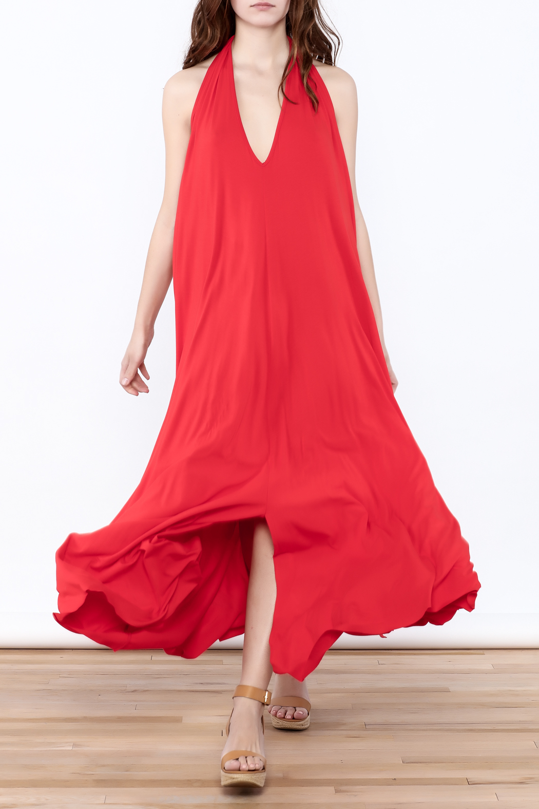 Join Clothes Red Maxi Dress - Main Image