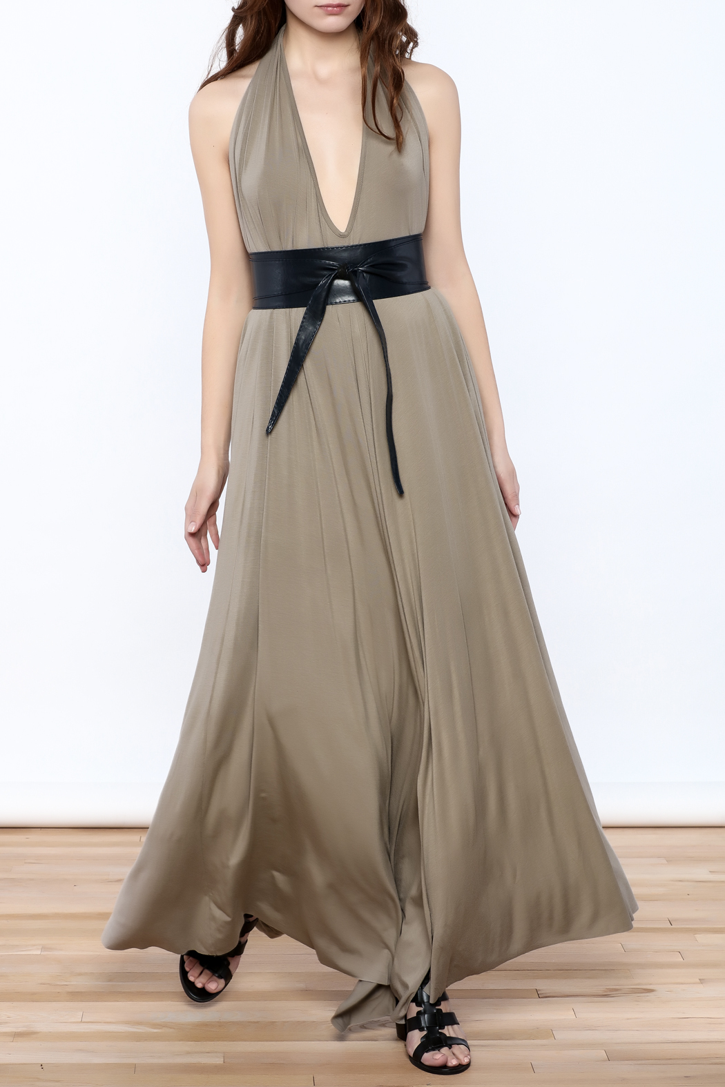 Join Clothes Sand Beige Maxi Dress - Main Image