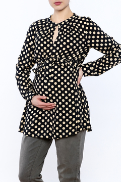 Shoptiques Product: Navy Polka Dot Blouse