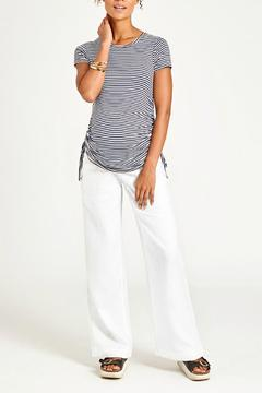 Shoptiques Product: Gathered Striped Top
