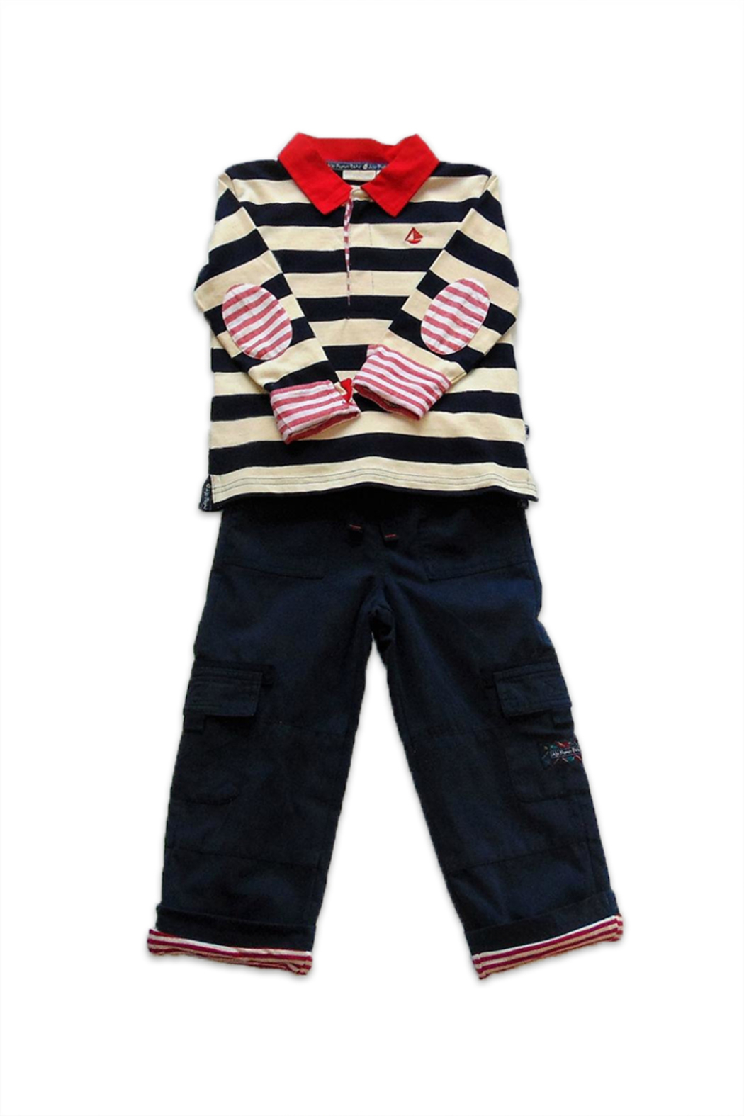 JoJo Maman Bebe Striped Rugby Set - Main Image