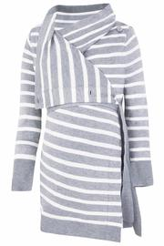 JoJo Maman Bebe Gray Cardigan - Front full body