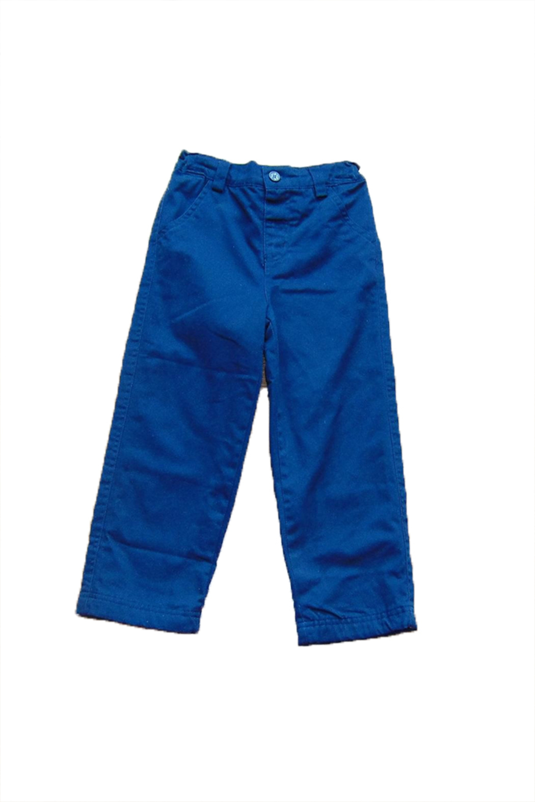 JoJo Maman Bebe Boys Cobalt Trousers - Front Cropped Image
