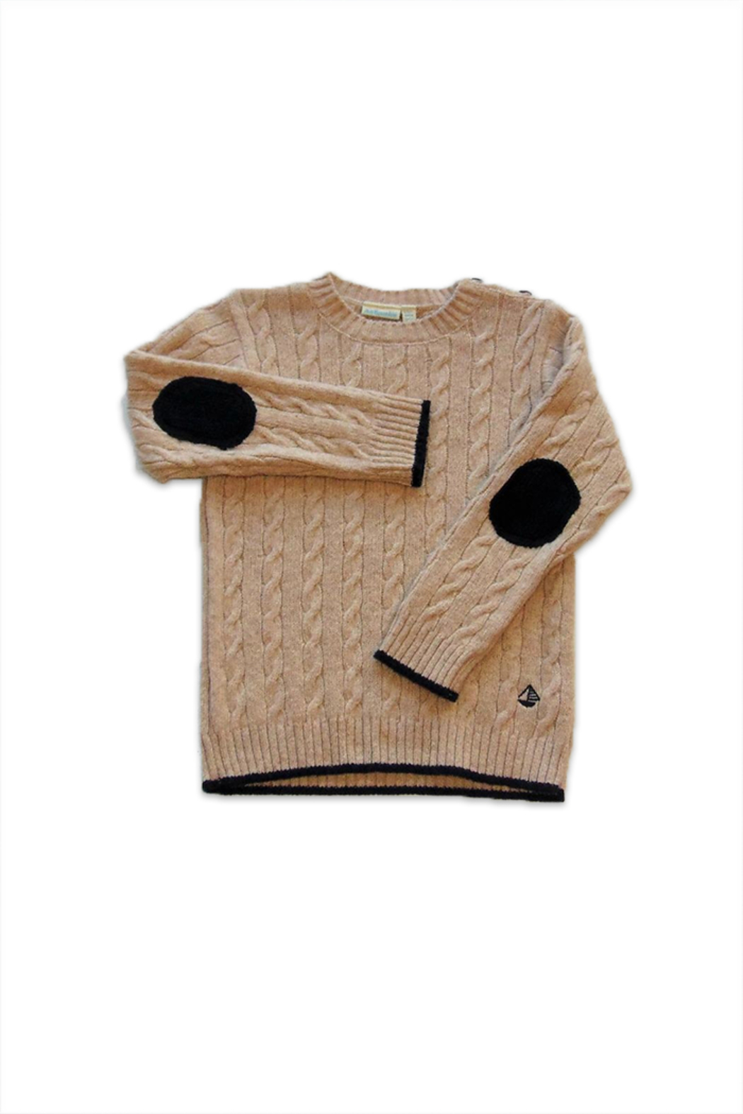 JoJo Maman Bebe Cable Knit Sweater - Front Cropped Image
