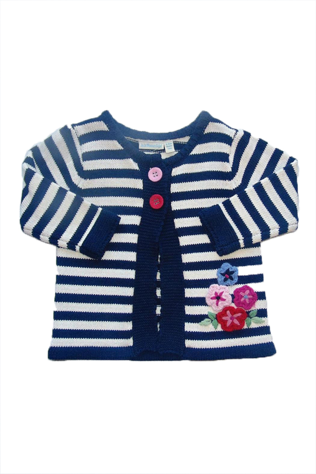 JoJo Maman Bebe Cable Knitted Cardigan - Main Image