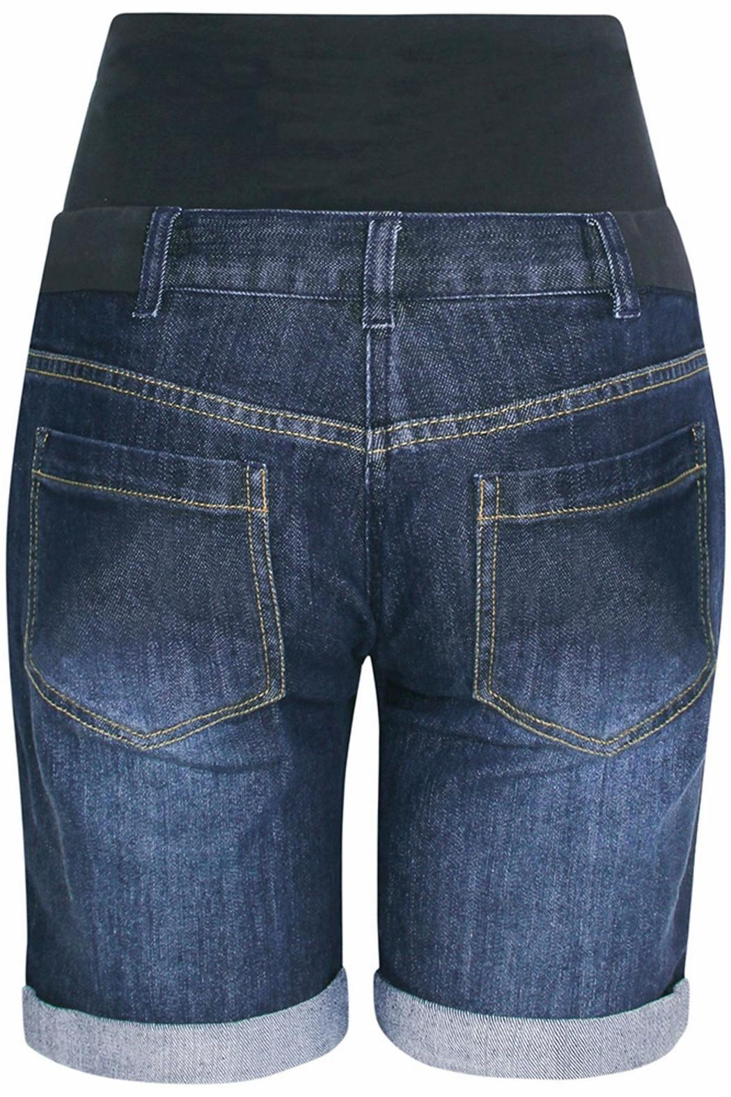 JoJo Maman Bebe Denim Maternity Shorts - Side Cropped Image