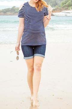 JoJo Maman Bebe Denim Maternity Shorts - Product List Image