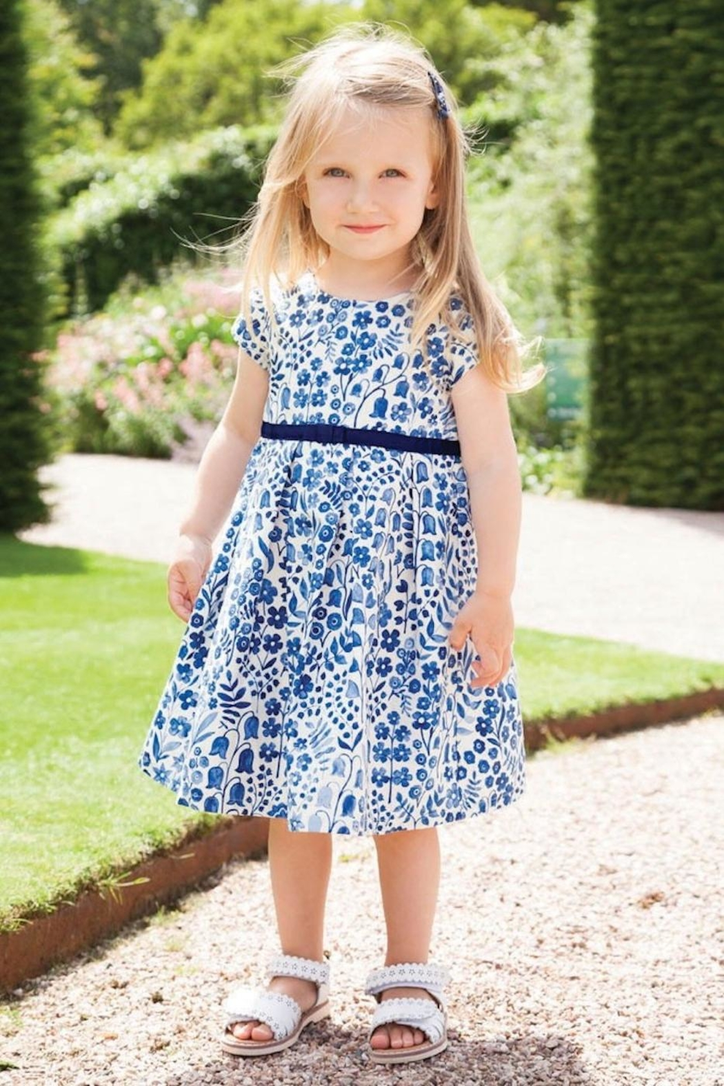 JoJo Maman Bebe Floral Party Dress - Front Full Image